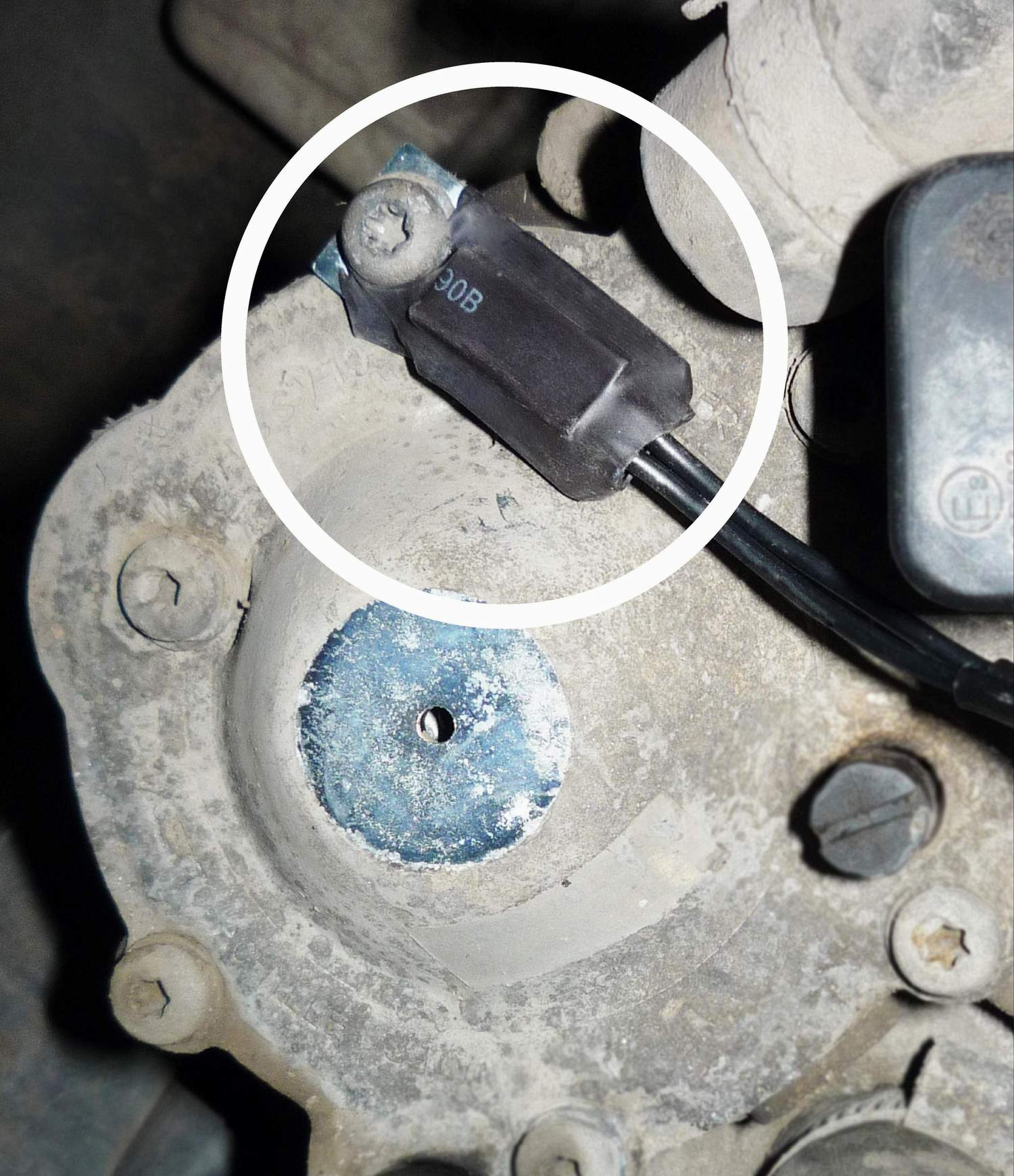 zamocowanie czujnika temperatury na parowniku